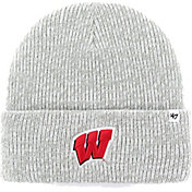 '47 Men's Wisconsin Badgers Grey Brain Freeze Knit Beanie
