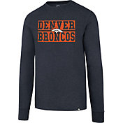 '47 Men's Denver Broncos Club Navy Long Sleeve Shirt