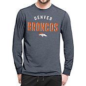 '47 Men's Denver Broncos Forward Navy Long Sleeve Shirt