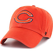 '47 Men's Chicago Bears Clean Up Orange Adjustable Hat
