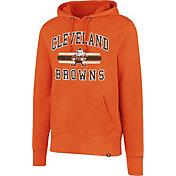 '47 Men's Cleveland Browns Headline Orange Pullover Hoodie