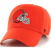 '47 Men's Cleveland Browns Clean Up Orange Adjustable Hat