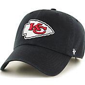 '47 Men's Kansas City Chiefs Clean Up Black Adjustable Hat