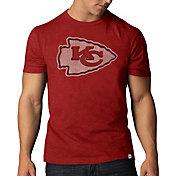 '47 Men's Kansas City Chiefs Scrum Logo Red T-Shirt