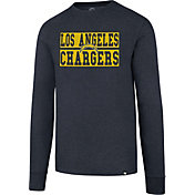 '47 Men's Los Angeles Chargers Club Navy Long Sleeve Shirt