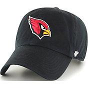 '47 Men's Arizona Cardinals Clean Up Black Adjustable Hat