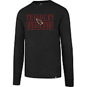 '47 Men's Arizona Cardinals Club Black Long Sleeve Shirt
