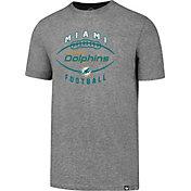 '47 Men's Miami Dolphins Club Football Grey T-Shirt