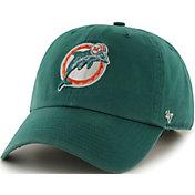 '47 Men's Miami Dolphins Legacy Clean Up Aqua Adjustable Hat
