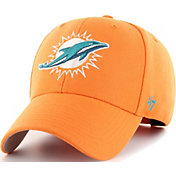 '47 Men's Miami Dolphins MVP Orange Adjustable Hat