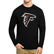 '47 Men's Atlanta Falcons Club Logo Black Long Sleeve Shirt