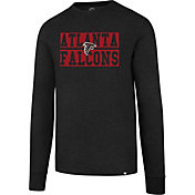'47 Men's Atlanta Falcons Club Black Long Sleeve Shirt