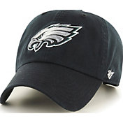 '47 Men's Philadelphia Eagles Clean Up Black Adjustable Hat