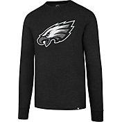 '47 Men's Philadelphia Eagles Club Black Long Sleeve Shirt