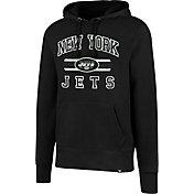 '47 Men's New York Jets Headline Black Pullover Hoodie