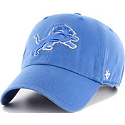 '47 Men's Detroit Lions Clean Up Adjustable Blue Hat