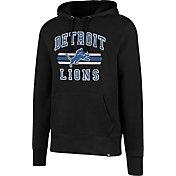 '47 Men's Detroit Lions Headline Black Pullover Hoodie