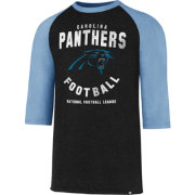 '47 Men's Carolina Panthers Club Legacy Black Raglan T-Shirt