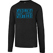 '47 Men's Carolina Panthers Club Black Long Sleeve Shirt