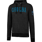 '47 Men's Carolina Panthers Top Grain Black Full-Zip Hoodie