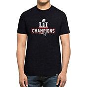 '47 Men's Super Bowl LI Champions New England Patriots Club Navy T-Shirt