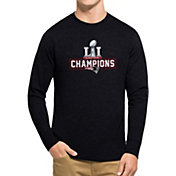 '47 Men's Super Bowl LI Champions New England Patriots Club Navy Long Sleeve Shirt