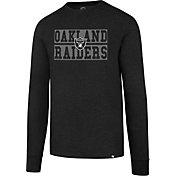 '47 Men's Oakland Raiders Club Black Long Sleeve Shirt