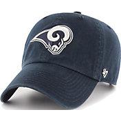 '47 Men's Los Angeles Rams Clean Up Adjustable Navy Hat