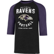 '47 Men's Baltimore Ravens Club Legacy Black Raglan T-Shirt