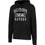 Nice mens baltimore ravens black kick off staff performance pullover hoodie