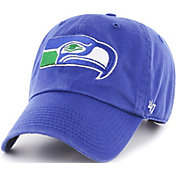 '47 Men's Seattle Seahawks Clean Up Throwback Royal Adjustable Hat