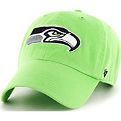 '47 Men's Seattle Seahawks Clean Up Green Adjustable Hat