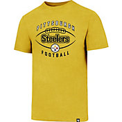 '47 Men's Pittsburgh Steelers Club Football Gold T-Shirt