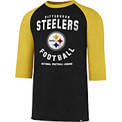 '47 Men's Pittsburgh Steelers Club Legacy Black Raglan T-Shirt