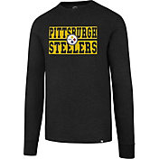 '47 Men's Pittsburgh Steelers Club Black Long Sleeve Shirt
