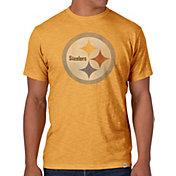 '47 Men's Pittsburgh Steelers Scrum Logo Gold T-Shirt