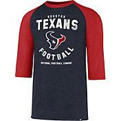 '47 Men's Houston Texans Club Legacy Navy Raglan T-Shirt