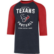 '47 Men's Houston Texans Club Legacy Navy Raglan T-Shirt