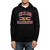 '47 Men's Chicago Blackhawks Headline Pullover Black Hoodie