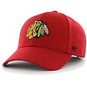 '47 Men's Chicago Blackhawks MVP Red Structured Adjustable Hat