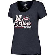'47 Women's 2017 NHL Stanley Cup Playoffs Columbus Blue Jackets Navy T-Shirt