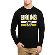 '47 Men's Boston Bruins Club Black Long Sleeve T-Shirt