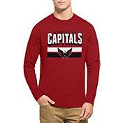 '47 Men's Washington Capitals Club Red Long Sleeve T-Shirt