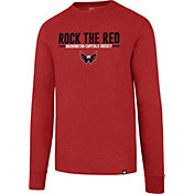 '47 Men's Washington Capitals Slogan Club Red Long Sleeve T-Shirt