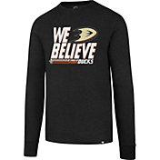 '47 Men's 2017 NHL Stanley Cup Playoffs Anaheim Ducks Black Long Sleeve T-Shirt