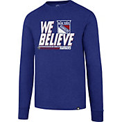 '47 Men's 2017 NHL Stanley Cup Playoffs New York Rangers Royal Long Sleeve T-Shirt