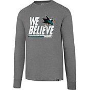 '47 Men's 2017 NHL Stanley Cup Playoffs San Jose Sharks Gray Long Sleeve T-Shirt
