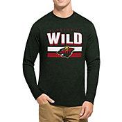 '47 Men's Minnesota Wild Club Dark Green Long Sleeve T-Shirt
