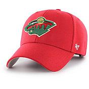 '47 Men's Minnesota Wild MVP Red Structured Adjustable Hat