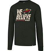 '47 Men's 2017 NHL Stanley Cup Playoffs Minnesota Wild Green Long Sleeve T-Shirt
